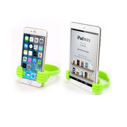 Wholesale Cute Cell Phone Stands - Cute Thumb Phone Tablet Holder Stand Portable Support Big Toe Thumbs Cell Smartphone Mount Stand For iPhone Samsung Huawei