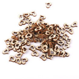 Wholesale Crafting Embellishments - Wholesale- SUNTEK 3mm Wooden Blank Hollow Heart Embellishments DIY Crafts 10mm 100pcs Free Shipping
