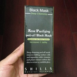 Wholesale Skin Firming Face Mask - SHILLS Black Mask Blackhead Remover Deep Cleansing Purifying Peel Acne Black Mud Face Mask DHL free