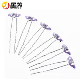 Wholesale Ladybug Silver Charm - New Arrival Charming Wedding Bridal Party rhinestone Ladybug Hair Pins Clip Barrettes Multi Color Animal Hairpins for women Hair Accessories