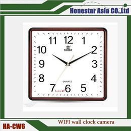 Wholesale Nanny Cam Clocks - 1080P WIFI Wall Clock camera Videorecorder Motion Detection IP Cam Wireless Nanny Home Office Security Cameras