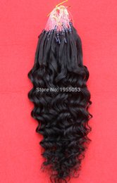 Wholesale 14 Micro Loop Extensions - Wholesale- 7A Unprocessed Virgin Brazilian Kinky Curly Hair Curly Micro Loop Ring Hair Extensions Human 100S Micro Ring Hair Extensions 26""
