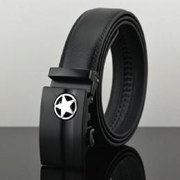 Wholesale Wholesale Leather Belt Straps - Wholesale- Fashion men belts designers Genuine Leather Strap belt MEN'S Luxury Brand Belt Automatic Buckle cinturones hombre cuero Q123