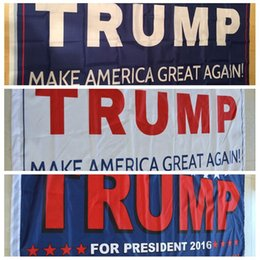 Wholesale Usa Great - Donald Trump 3x5 Foot Flag 2016 Make America Great Again Donald for President USA Free Shipping Election Flag 90*150 cm 3 colors