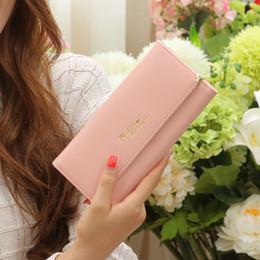Wholesale Korea Japan Long Dress - Three Percent Off Female Long Wallet Purse Handbag Female Hand Bag Buckle Card Wallet Korea Women's Multi Bag
