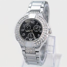 Wholesale Elegant Watches - A piece lots Famous Brand Golden Watches Stainless steel Gift For Women Lady Wristwatch Elegant clock Japan Movement Free Shipping