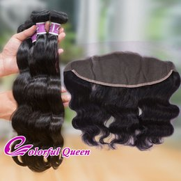 Wholesale Malaysian 3pcs Closure - Malaysian Virgin Human Hair Lace Frontal Closure 3pcs Malaysian Body Wave Weave Bundles with Lace Frontals 13x4 Ear to Ear Frontal Closures
