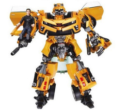 Wholesale Transformation Robot Bumblebee - Transformation Robot Human Alliance Bumblebee and Sam Action Figures Toys for classic toys anime figure cartoon boy toy