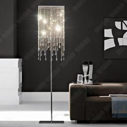 candelabro em pé Desconto Chão de cristal levou luzes Moderna Lâmpada de Assoalho de Chão Lustres Suporte de Chão Luminária de Cristal Candelabro de Prata de Pé lâmpada de cristal do hotel