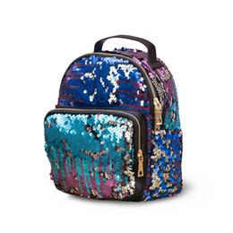 Wholesale School Bags Girls Princess - Hot Sale DHL Mini Bling Sequins Backpack School Bags for Teenage Girls Princess Backpack Bag Rucksack Small Travel Sequins Backpack