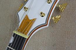 Wholesale Semi Hollow Guitar Tremolo - Ebony fingerboard THE WHITE FALCON 6120 Semi Hollow Body Electric Guitar With Tremolo