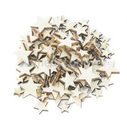 2019 mestiere all'ingrosso assortito All'ingrosso 100 pezzi assortiti in legno naturale Star Plain Shabby Chic Craft Scrapbook mestiere all'ingrosso assortito economici