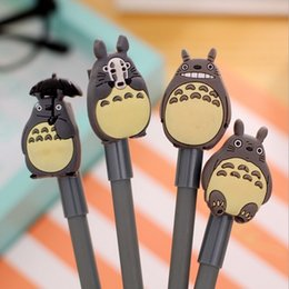 Wholesale School Supply Wholesales - Wholesale-Cute Japan Cartoon 3D TOTORO Cat design Gel pen 0.38mm Black ink school supplies stationery WHOLESALE