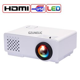 2019 billige mini lcd projektoren Großhandels-GZUNELIC neues Heimkino Pico preiswerter digitaler HD 1080P mini beweglicher HDMI USB LCD LED Projektor-Beamer Projector Proyector günstig billige mini lcd projektoren
