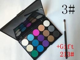 Wholesale Eyeshadow Palette Fashion Cosmetics - Free shipping epacket! Eyeshadow Palette New fashion 15 Earth Color Matte Pigment Cosmetic Makeup Eye Shadow+Free 213# makeup brush HZP003
