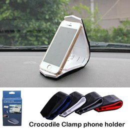 Wholesale Dhl Mobile - New mobile Phone Holder Silicone Multifunction Crocodile Clamp Car Dashboard Stand Bracket for iPhone Samsung DHL free shipping