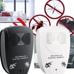 Wholesale Ultrasonic Mole - Electronic Pest Control Ultrasonic Pest Repeller Home Anti Mosquito Repellent Killer Rodent Bug Reject Mole Mice EU US Plug CCA7983 50pcs