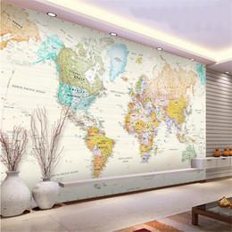 2019 фотография карта мира Пользовательские 3d фото обои гостиной росписи бледно-цветная карта мира 3d картина картина диван тв фон обои нетканый стикер стены дешево фотография карта мира