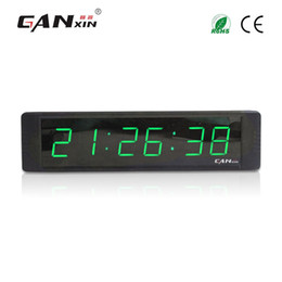 Wholesale Led Digit Clock - [Ganxin] 1Inch Display 6 Digit Green Portable Led Digital Gym Timer Clock Decor with Remote Control Led Interval Timer Countdown Clock