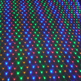 Wholesale Outdoor Christmas Displays - 1.5*1.5m net christmas lights outdoor party lighting Decoration led net string lights Multi Color 8 Displays