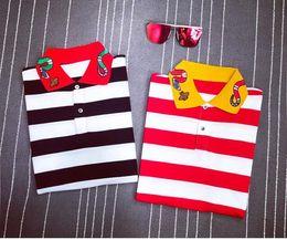 Wholesale Ralph Polo Women - Newest 2 Colors men brand polo t-shirt Snake embroidery collar fashion t shirt short-sleeved t shirt men Striped lovers polo girls women men