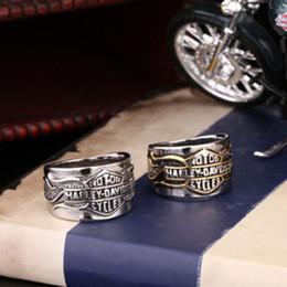 accesorios del motor Rebajas Europa y los Estados Unidos joyería al por mayor motor de la letra anillos de los hombres, accesorios de los hombres, anillo de acero inoxidable nuevo lugar