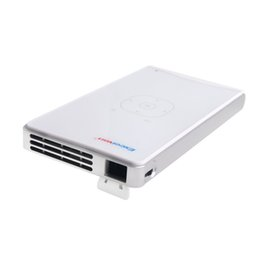 Wholesale beamer wifi android - Wholesale-Original Excelvan 100WM Mini Pocket DLP Projector Android WiFi Bluetooth &HDMI Connect Proyector with Android 4.4 System Beamer