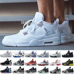 Wholesale Round Plastic Clear Balls - Newest Hot Sale Basketball Shoes Retro 4s Sports Sneakers Zapatillas Authentic Real Replicas Basket Ball Top Quality 4 Size 41-47 US 8-13