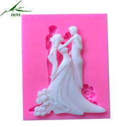 Wholesale Dancing Mold - 1 Piece New Bride Groom Dance Fondant Silicone Molds For Cake Decorating Tool Sugarcraft Chocolate Wedding Design Gumpaste Mold