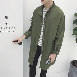 Wholesale Add Winter Coats - Autumn winter add cotton swag jackets for men hip hop mens coats and jackets army green man windbreaker ma1 long bomber jacket