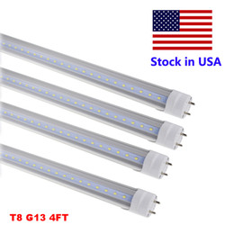 Wholesale Covered Led Bulbs - LED Tube Lights 4 ft 4 Feet 18W 22W 28W LED Tubes Fixture 4ft Clear Cover G13 120V Bulbs Lighting Retail Wholesale