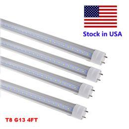 Wholesale Tube Lights Covers - LED Tube Lights 4 ft 4 Feet 18W 22W 28W LED Tubes Fixture 4ft Clear Cover G13 120V Bulbs Lighting Retail Wholesale
