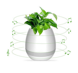 Wholesale Chinese Style Flower Pot - LED Colorful Night Light Smart Bluetooth Speaker Music Piano Flower Pots For Home Office Decoration Night Light