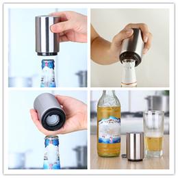 Wholesale Wholesale Beer Gadgets - New Stainless Steel Beer Bottle Opener Automatic Bottle Openers Beer Soda Cap Wine Bottle Opener kitchen gadgets