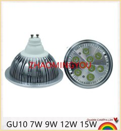 Wholesale G53 12w - 10PCS GU10 E27 7W 9W 12W 15W AC 85-265V LED AR111 GU10 Light Bulb CREE Chip Led Spotlight Bulb with 75-100W Halogen Equivalent