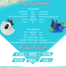 Wholesale Rc Mini Submarine - Wholesale- New RC Toys Mini Submarine Toy 4CH High Powered Speed Remote Control Boats 2.4G Plas SEP 15