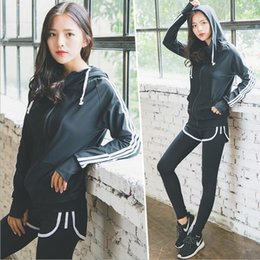 Wholesale Braces Suit - 2017 Spring and Autumn new running fitness clothes three-piece women long-sleeved sports suit casual brace two tights