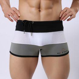 Wholesale Nylon Swim Trunks - Men Swimwear Mesh Men's Swimsuits Surf Board Beach Wear Man Swimming Trunks Boxer Shorts Swim Suits S-XL