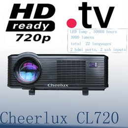 Wholesale Cheap Led Tvs - Wholesale-Cheap new arrive led native 720p projector built in digital TV with 2 hdmi ports 2 usb inputs for home theater office meeting