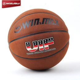 Wholesale WINMAX Basketball Ball Official Size Indoor Outdoor Games Sport Basket Ball UK Larger particles microfiber leather