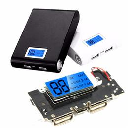 Argentina Al por mayor-Seguridad Universal Dual USB 5V 1 / 2.1A Power Bank 18650 Cargador de Batería PCB Board Power Module Accesorios Pro para teléfono móvil DIY Suministro
