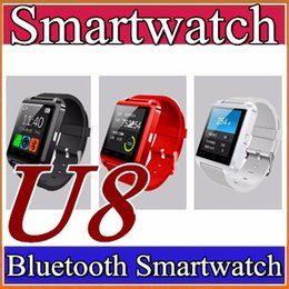 Wholesale Watch Phone Fashion - 10X U8 Bluetooth Smart Watch Fashion Casual Android Watch Digital Sport Wrist LED Watch Pair For iOS Android Phone DZ09 GT08 Smartwatch A-BS