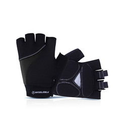Wholesale Black Foam For Padding - Winmax Short Fitness Reflective bicycle Gloves Half Finger Camping & Hiking Bicycle Gloves With Gel-Foam Pad For Outdoors Sport