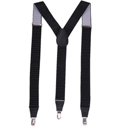 Wholesale Heavy Leather Straps - Wholesale-leather suspenders Adjustable 3 clips Men's suspenders clip Fashion heavy duty working Suspenders strap