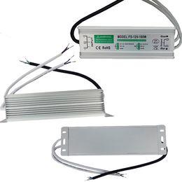 transformador de corrente alternada impermeável Desconto DC12V AC Adaptador de Energia IP65 AC110-240V adaptador de potência DC12V saída 10 W 20 W 30 W 45 W 60 W 80 W 100 W 150 W 200 W transformadores à prova d 'água levou
