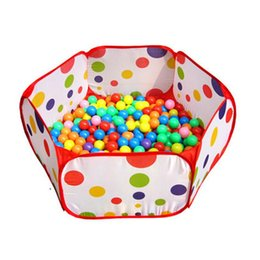 Wholesale Pop Up Toy Tents - Wholesale-Pop up Hexagon Polka Dot Children Ball Play Pool Tent Carry Tote Toy OCT 18