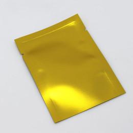Canada 400pcs / lot doré 7 * 10cm papier d'aluminium compact sacs d'emballage sous vide pour le collation de café ouvert top poche de soudure supplier compact pack Offre