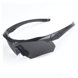 Wholesale Ess Goggles Black - 2017 New Arrival TR90 Military ESS CROSSBOW Sunglasses Goggles 3 Lens Black Yellow Colors Outdoor Polarized Army Cycling Eyewear Quality