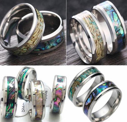 Wholesale Tungsten Carbide Men - Men Women Stainless steel Color Shell Rings Tungsten Carbide Finger Ring Wedding Engagement Ring Wholesale 2017 New HOT Jewelry Lot
