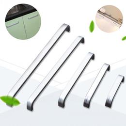 cassetto da 64 mm Sconti All'ingrosso- 5 lunghezze Solid / Hollow Space maniglia in alluminio Cucina Mobili tira manico cassetto maniglia 64mm / 96mm / 128mm / 160mm / 192mm